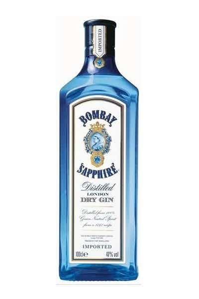A bottle of Bombay Sapphire