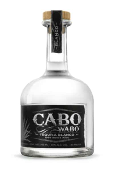 A bottle of Cabo Wabo Blanco Tequila