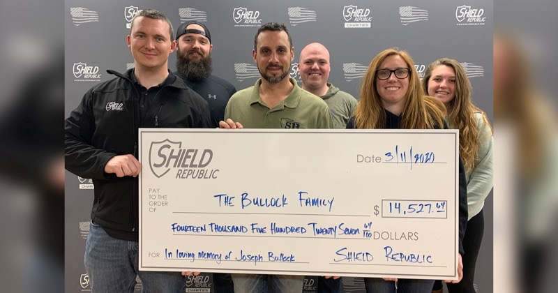 Florida Trooper Bullock receives large donation from Shield Republic