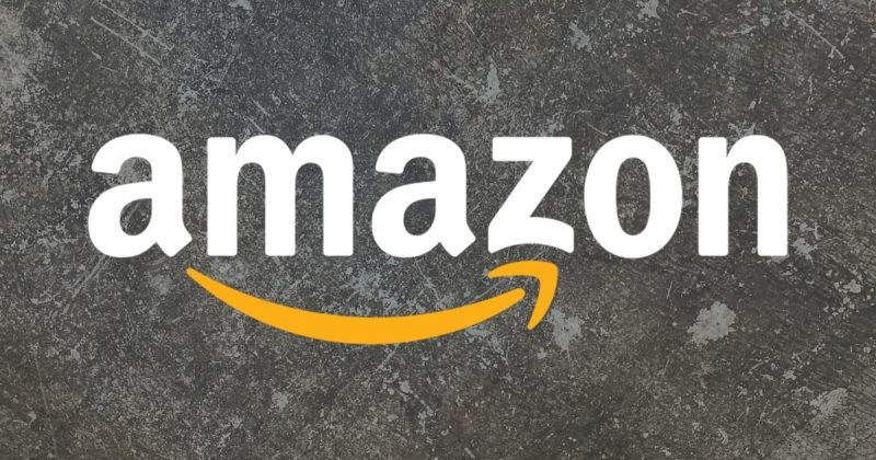 The Amazon company logo.