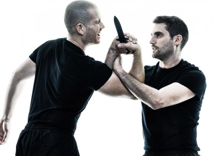 A man demonstrating Krav Maga self defence