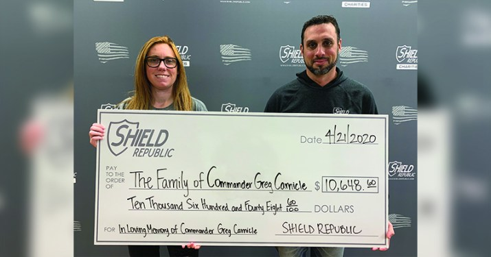 Commander Greg Carnicle Donation from Shield Republic