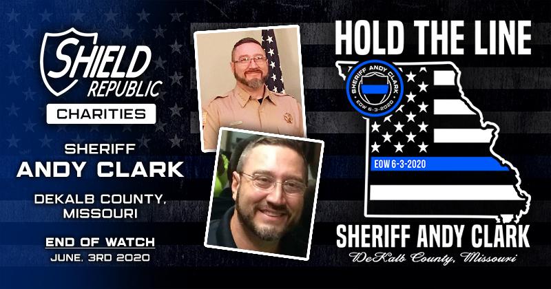 DeKalb County Sheriff's Office, Missouri Sheriff Andy Clark Shield Republic Foundation Donation