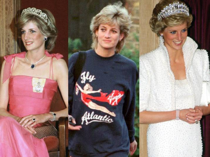 various pictures of Princess Diana