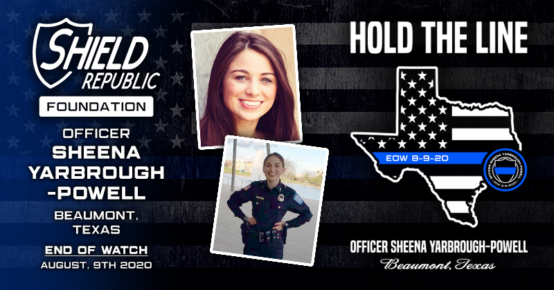 Donation Hold The Line Officer Sheena Yarbrough-Powell Fundraiser