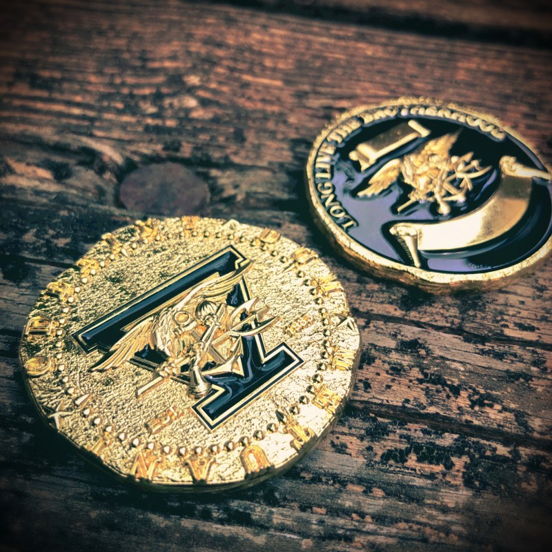 SEAL Team 5 challenge coin