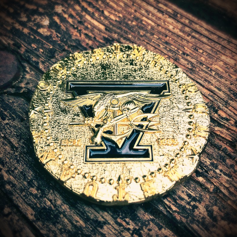 SEAL Team 5 coin front