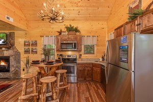 Kitchen in Smoky Mountain Treehouse, a cabin rental in Gatlinburg