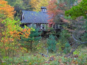 Cottage in the abandoned vacation town of Elkmont.