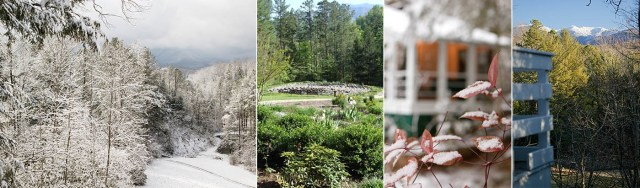 Collage of photos from the grounds at Buckhorn Inn, courtesy of Buckhorn.