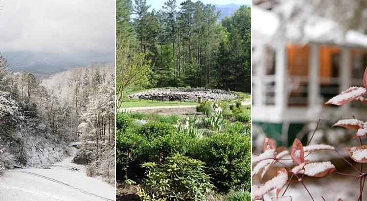 Collage of photos from the grounds at Buckhorn Inn, courtesy of Buckhorn.
