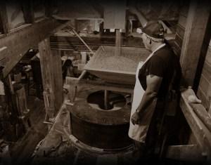 The moonshine distilling process.