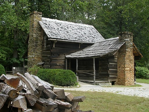 Oconaluftee Farmhouse at the visitor museum