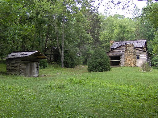 The Walker Sister's Cabin in the Great Smoky Mountains National Park
