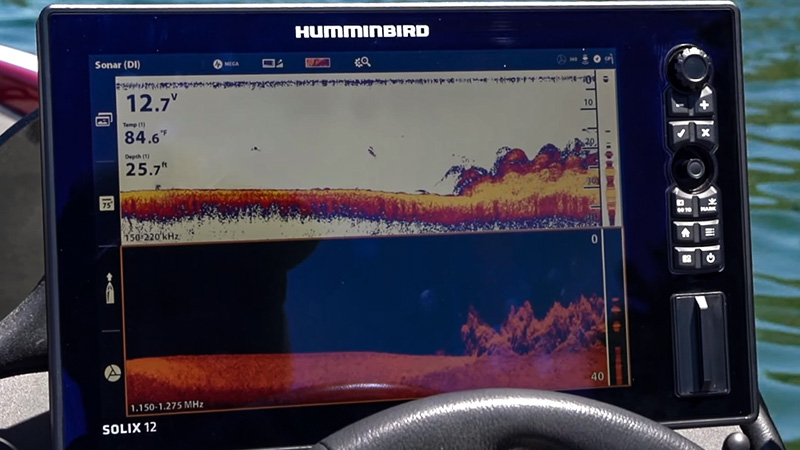 But how does one read the pictures on a fish finder screen properly