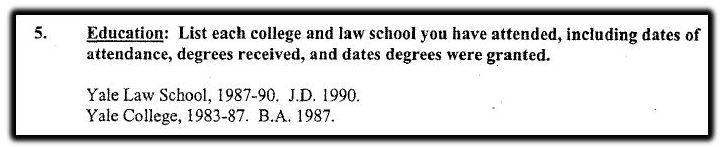 Kavanaugh education