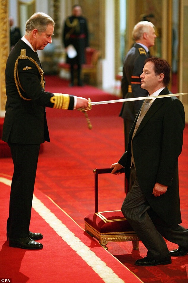 clegg being knighted