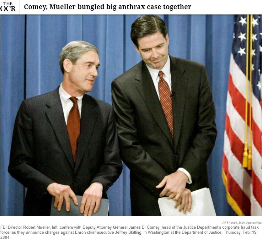 comey Mueller Anthrax