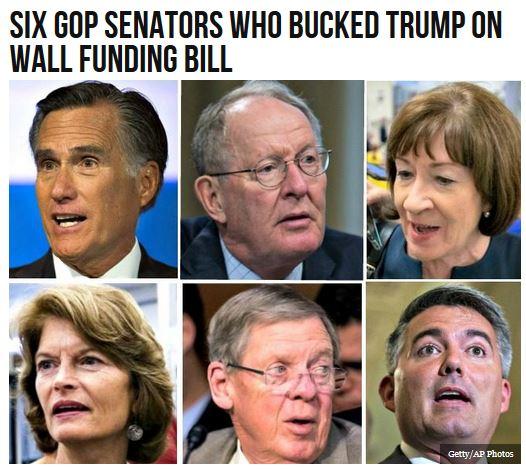 six gop republican globalist senators