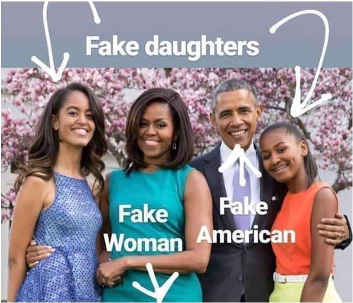 fake obama family