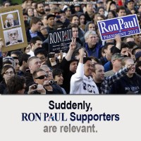 Suddenly, Ron Paul Supporters Are Relevant