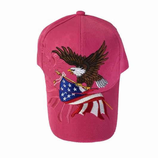 Hot Pink Patriotic Eagle Cap