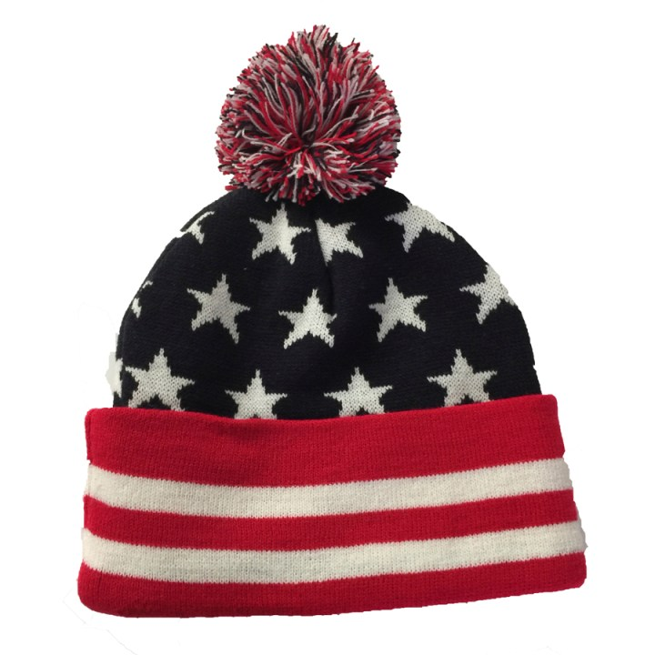Stars and Stripes Knitted Beanie