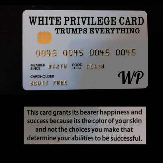 Patriot White Privilege Card