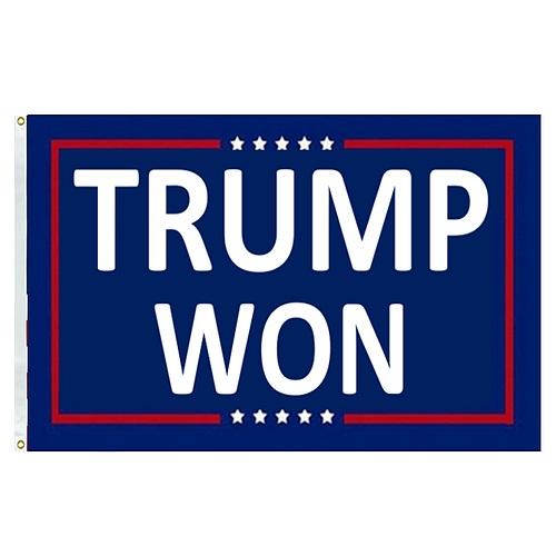 Trump Won flag blue