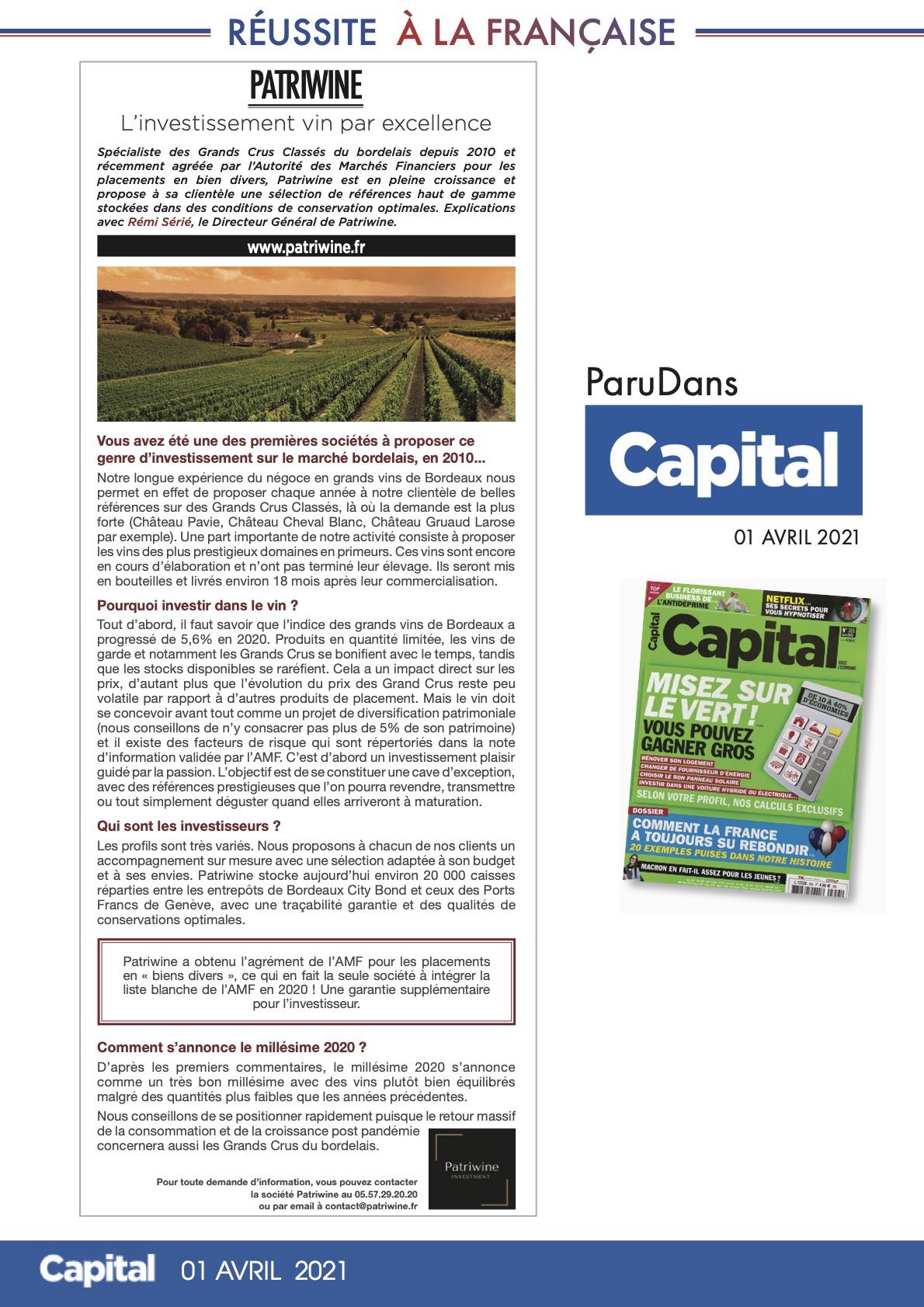 PATRIWINE - Capital