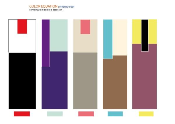 combinazione colori per inverno cool