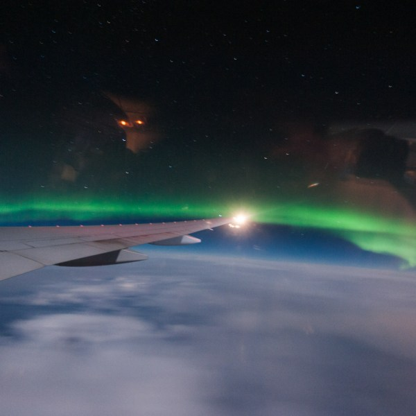 Northern Lights From 36.000 Feet (Aurora Borealis)