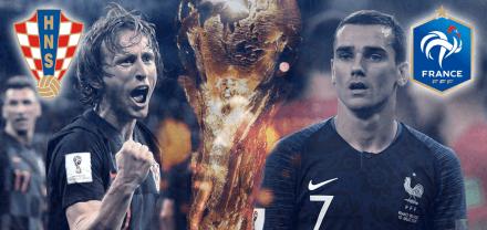 Cara a cara de Francia y Croacia en redes sociales