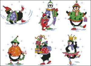 Gráfico de punto de cruz para descargar GRATIS en PDF, imprimir y bordar dibujos de Navidad