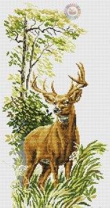 Gráfico de punto de cruz para descargar GRATIS en PDF, imprimir y bordar ciervo