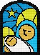 Gráfico de punto de cruz para descargar GRATIS en PDF, imprimir y bordar Virgen con Niño