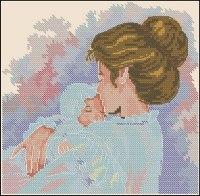 Gráfico de punto de cruz para descargar GRATIS en PDF, imprimir y bordar madre con bebé