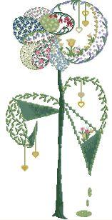 Gráfico de punto de cruz para descargar GRATIS en PDF, imprimir y bordar composición floral