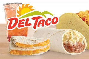 toasts and fries at del taco restaurant