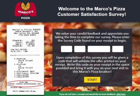 Tellmarcos survey page english
