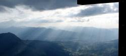 Gipfelkreuz am Salewa Klettersteig, Oberjoch