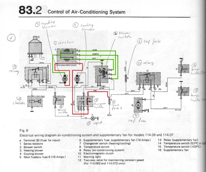 w114 mercedes  ac wiring diagram explained