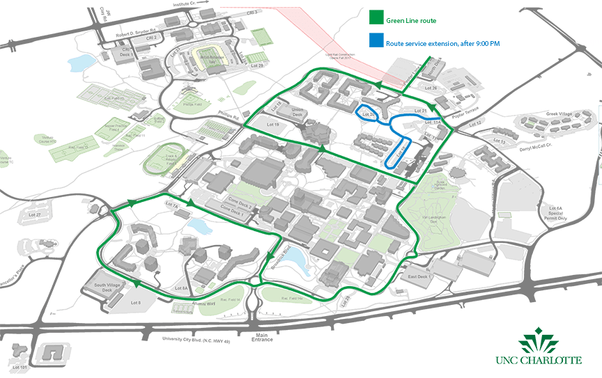 Unc Charlotte Campus Map Library