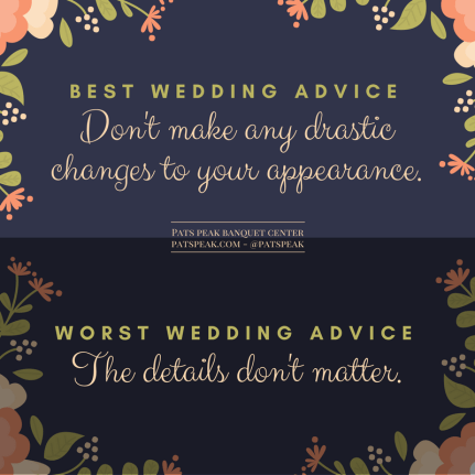 Best wedding advice