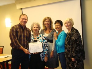 Patsy receiving her Advanced Personality Trainer Certification