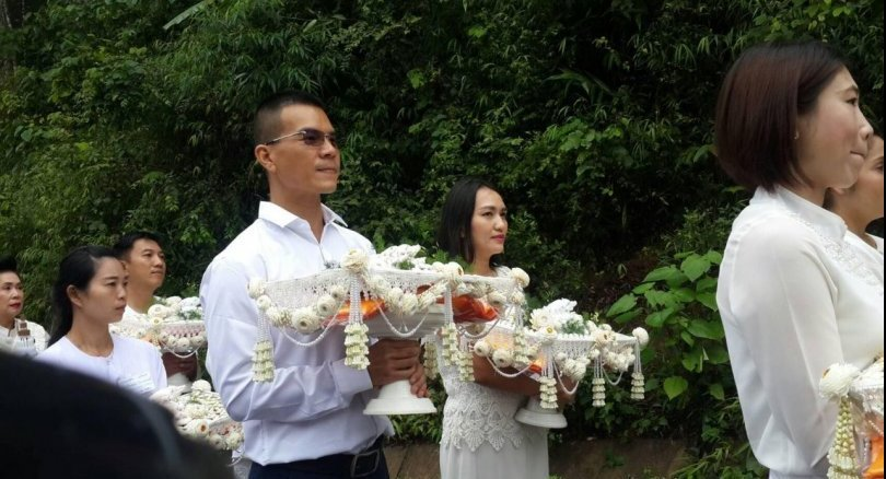 Crowd attend footballers' ordination
