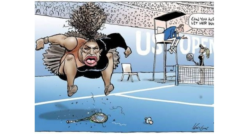 Australian cartoonist under fire for Serena sketch