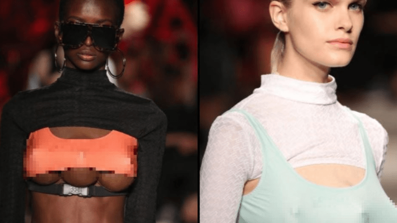 Models With 'Three Boobs' Take To The Catwalk In Bizarre Milan Fashion Show