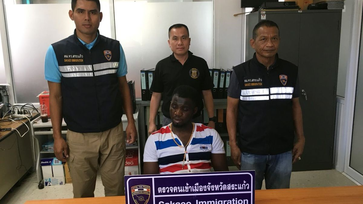 Nigerian arrested in Sa Kaew