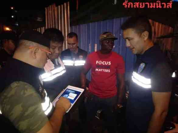 African tourist arrested in Pattaya for not carrying his passport